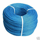 Blue Poly Rope Coil Polypropylene Polyrope Events Gardening Camping Fencing 10mm