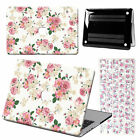 "Floral Laptop Hard Case +Flower Keyboard Cover For Macbook Air 11""13/ Pro 13""15"""