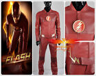 The Flash 2014 Barry Allen Artificial Leather Cosplay Costume  Uniform Outfit