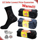 3,12 Pairs Men\'s Super Warm Heavy Thermal Merino Wool Winter Socks ONE SIZE