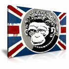 BANKSY Monkey Queen Wall Art Canvas Print Home Office Deco  9 sizes from 12.99