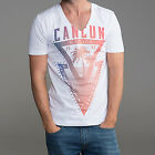 DEEP V NECK CANCUN TSHIRT T SHIRT TOP NEW WHITE TOWIE GEORDIE MUSCLE VEST