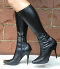 Black Fetish Stiletto GoGo Crossdresser Drag Queen Costume Boots size 12 13 14