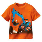 Kids Boys Child Cotton Short Sleeve Tops Excavator T-Shirts Baby Toddlers 18M-6T
