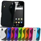 2 X NEW GRIP  GEL CASE FOR SAMSUNG GALAXY ACE S5830 + FREE SCREEN PROTECTOR