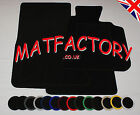 Peugeot 306 CABRIOLET 1994-2003 black tailored car mats P19 COLOURED BINDING