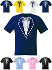 Kids Tuxedo T Shirt Scotland Boys Girls Football Rugby Cricket Prom Fancy Dress