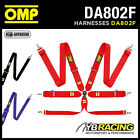DA802F OMP 802F MOTORSPORT HARNESS BELTS 6-POINT HANS with STEEL SNAP HOOKS
