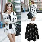 Fashion Womens Skull Printed Loose Long Sleeves Cardigan Sweater 2 Colors FKS