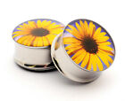 Sunflower Picture Plugs gauges Choose Size new