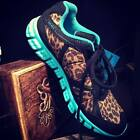 NIB Crazy Train Decked Out RUN WILD Turquoise Leopard Tennis Shoe 7 8 9 10 11 12