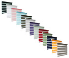 Quality Zebra/Vision Window Roller Blinds, Choice of 10 Colours and 16 Sizes