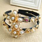 Pearl Baroque Coins Hair Band Headpiece Wedding Cocktail Prom Hair Accessories F