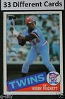 KIRBY PUCKETT _ 33 Different ROOKIE & 2nd Year Cards _ Choose 1 or More
