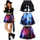 NEW FASHION WOMEN'S LADIES DIGITAL PRINT SHORT PLEATED SKATER SKIRT MINI DRESS