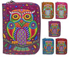 New Ladies Faux Leather Owl Zip Small Coin Purse Womens Wallet Card Holder