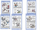 ASSORTED CUTE UNMOUNTED STAMP SETS 12 DESIGNS TO CHOOSE FROM