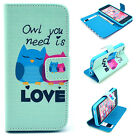 Love owl Luxury Wallet Flip wallet card leather case for SamSung Iphone Nokia #8