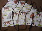 HORSES PVCWATERPROOF APRONS ADULTS AND CHILDRENS