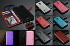 For SamSung iPhone Nokia LG Strap Luxury Holder Wallet ID Card Leather Case DK