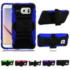 For Samsung Galaxy S6 Dual Layer Side Kickstand With Holster Cover Case