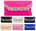 SAITN  GLITTER COVER ENVELOPE BRIDAL PARTY WEDDING PROM EVENING CLUTCH HANDBAG