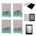 Elephant Family PU Silm Flip Case Cover For Amazon Kindle Paperwhite 1 2&3G Wifi