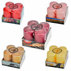 THE UK CANDLE COMPANY 4PK SCENTED PILLAR CANDLES 50 x 80mm, 5 DIFFERENT SCENTS