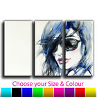 Abstract Woman Treble Canvas Wall Art Picture Print 3O