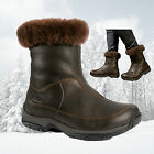 Brasher Women's Katavi Leather Insulated Waterproof Winter Boots - Brown - New
