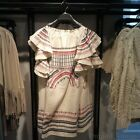 ZARA NEW COLLECTION 2015. ECRU ETHNIC EMBROIDERED DRESS WITH FRILLED SLEEVES.