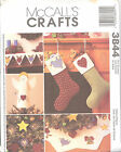 McCall's 3844 Holiday Stitchery Decorating - Craft/Sewing Pattern