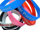 Cancer Patient  Silicone Medical Help Wist Bands 2 bands pack