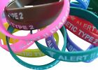 Type 2 Diabetes Insulin Resistance Patient  Silicone Medical WristBand 2 band pk