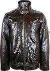UNICORN Mens Short Glazed Brown Real Leather Jacket #G1