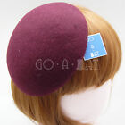 VINTAGE Wool Felt Women Fascinator Ladies Mini Beret Pillbox | 14cm | Black Blue