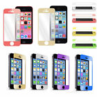 Colorful Real Tempered Glass Screen Protector Film Guard for Apple iPhone 4/5/5S
