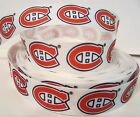"GROSGRAIN MONTREAL CANADIENS 7/8"" INCH GROSGRAIN RIBBON FOR BOWS 1, 3 OR 5 YARDS $6.99 USD on eBay"