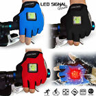 Cycling Glove Half Finger LED Turning Signal Cycling Running Hiking Riding Glove