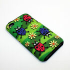 For Apple iPod Touch 4th Gen Hybrid 2-in-1 Cover Case Flower Ladybugs
