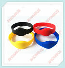 1/2pcs RFID 125KHz EM4100 ID Tag Color Waterproof Silicone Wristband Bracelet