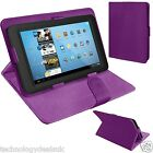 Universal Adjustable Leather Folio Case Stand Cover For 8, 9 & 10 Inch Tablets