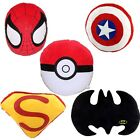 New Super Hero Batman Bat/Superman/Pokeball/Spider-Man Plush Stuffed Pillow AU