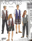 McCalls Sewing Pattern 6120 Misses Men's or Teen Boys T-Shirt Vest Pants Shorts
