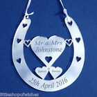 Personalised Mini Bridal Good Luck Horseshoe Gift Lucky Wedding Keepsake Mr Mrs