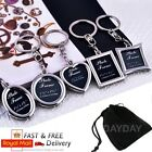 photo frame keyring silver metal  key chain ring gift for him her mum dad