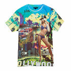 Mens T Shirt Leopold Brave Soul New Hollywood Cityscape Graphic Print Tee Top