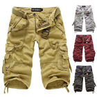 HOT! Mens Shorts    Military Design Relaxed Fit Causal Shorts Cargo Short Pants
