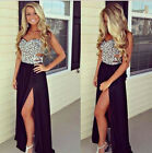 Sexy Elegant Womens Slim Long Maxi Floral Ball Gown Evening Cocktail Party Dress