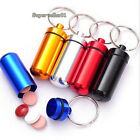 Delicate Aluminum Pill Case Box Case Bottle Cache Drug Holder Keychain Container